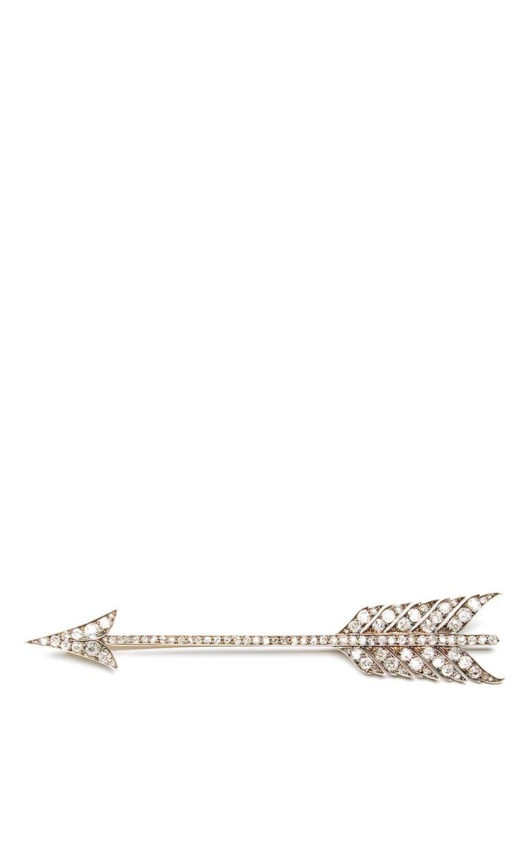 FD Gallery's antique Arrow brooch with diamonds in white gold. $20,000 at Moda Operandi.