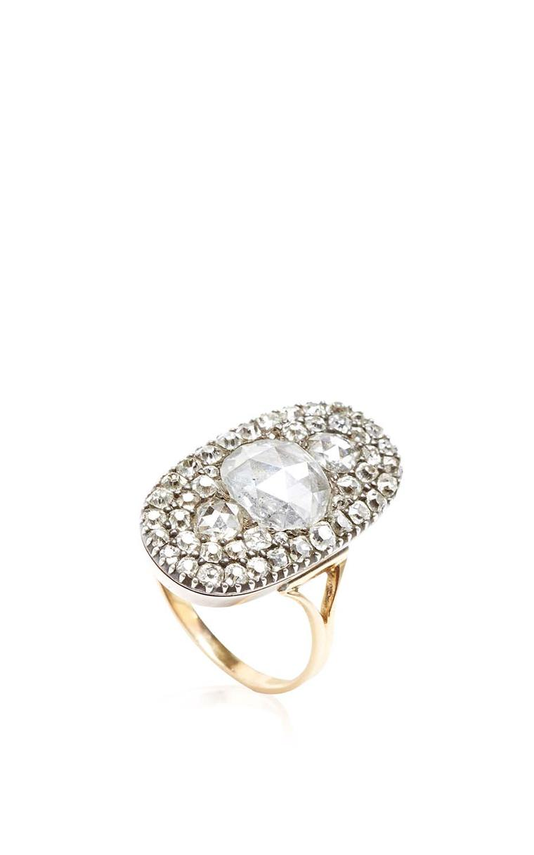 FD Gallery's 18th-century diamond ring featuring rose-cut diamonds in silver and gold $37,800.