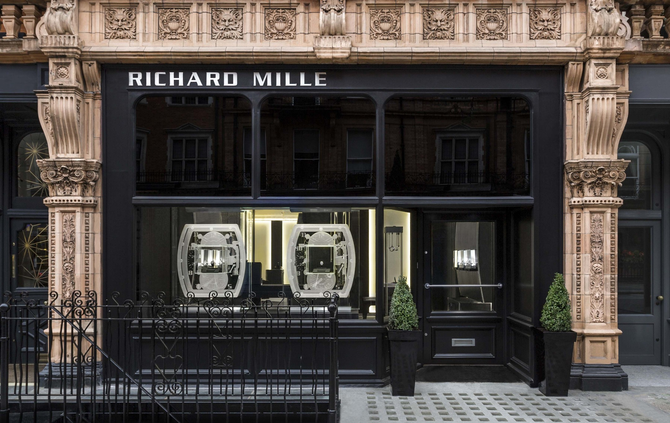 The facade of Richard Mille's new boutique in the exclusive Mayfair district of London, which is fast establishing itself as the new Mecca for high-end watch and jewellery brands.