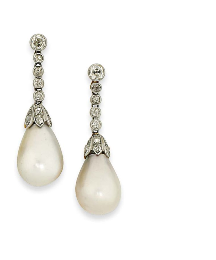 These elegant late 19th century natural pearl ear pendants more than doubled their high pre-sale estimate to sell for £104,500 at Christie's London in 2014.