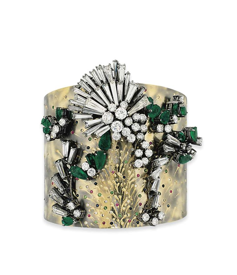 Lot 99, a contemporary cuff by Spanish artist jeweller Vicente Gracia from Valencia, is one to watch (estimate: £18,000-25,000). Christie's Important Jewels Sale on 26 November at King Street in London.