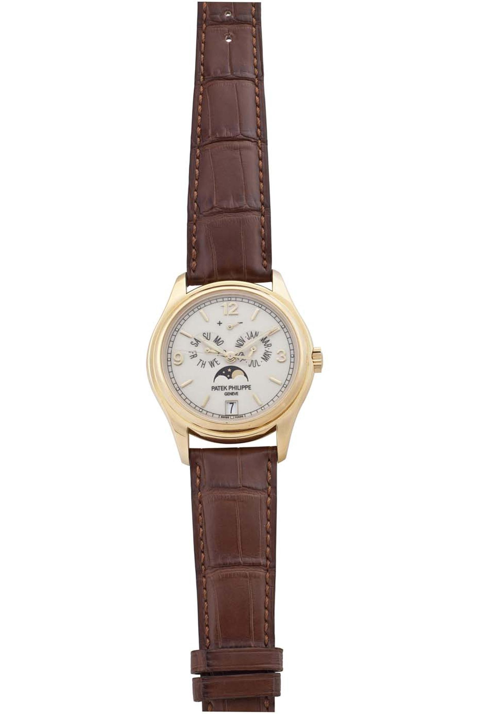 Christie's Watch Shop Patek Philippe yellow gold annual calendar watch ($33,000).
