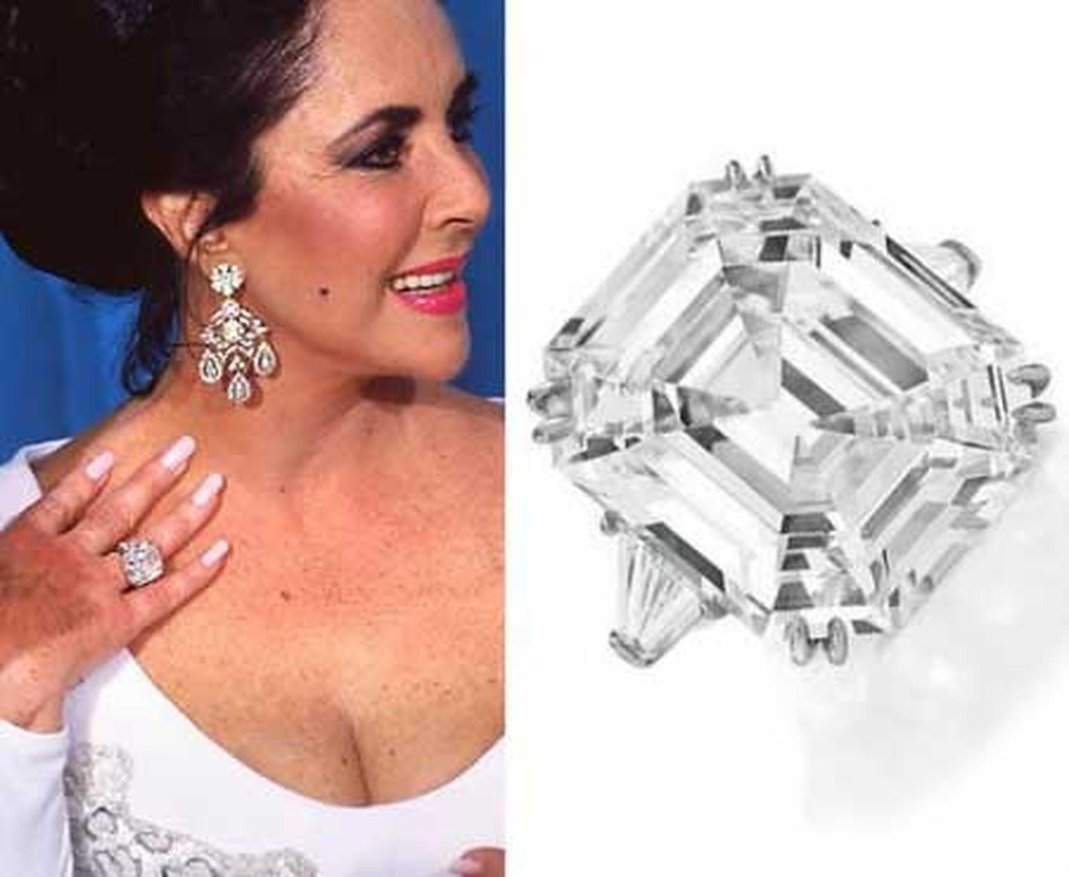 The most famous Asscher-cut diamond of them all was worn by screen legend Elizabeth Taylor. The 33.19-carat Krupp diamond (now more commonly known as the Elizabeth Taylor diamond) was bought for the actress by Richard Burton in 1968.