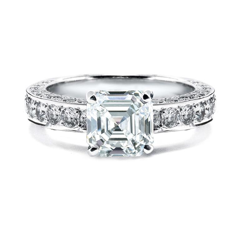Royal Asscher diamond engagement ring.
