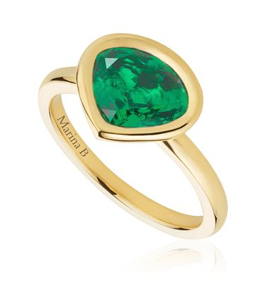 Working together with iconic Italian jeweller Marina B, Mila Kunis has helped create a gold ring set with a Gemfields Zambian emerald in the signature Marina B cut. All profits from sales of the $4,800 ring will go to the Nkana Health Center near Gemfield