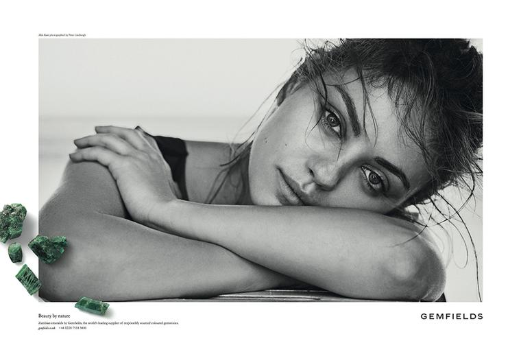 Gemfields brand ambassador and new mum Mila Kunis collaborated with Marina B on an emerald ring that celebrates motherhood and will raise money for charity.