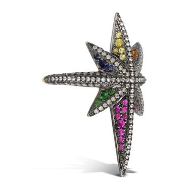 Venyx Star ring with fancy colour sapphires and diamonds