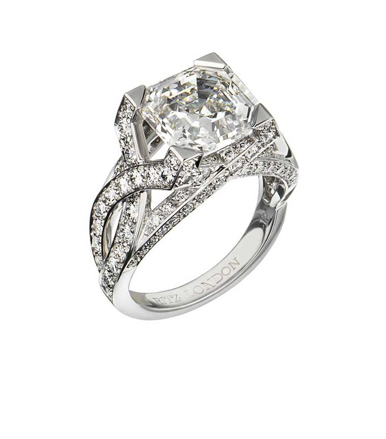 Ritz Fine Jewellery Asscher-cut diamond engagement ring.