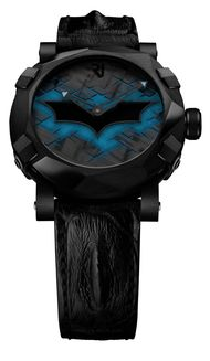 Swiss watchmaker Romain Jerome is celebrating the 75th anniversary of the Dark Knight with the RJ-Romain Jerome Batman-DNA watch which recreates the angular contours of the Batmobile on its dramatic 46mm black PVD-coated case watch.