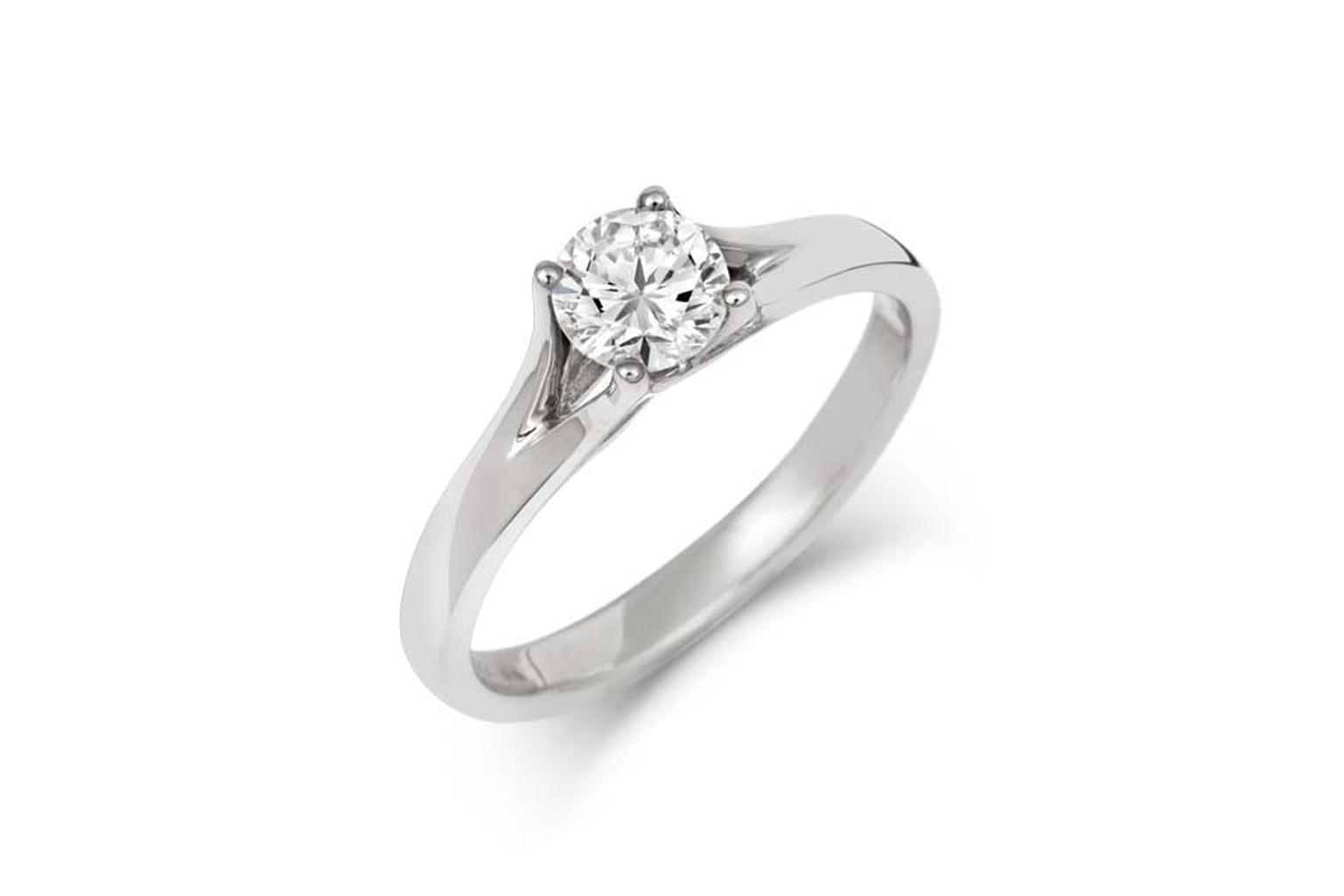 CRED split shank round brilliant-cut diamond engagement ring (£1,340).