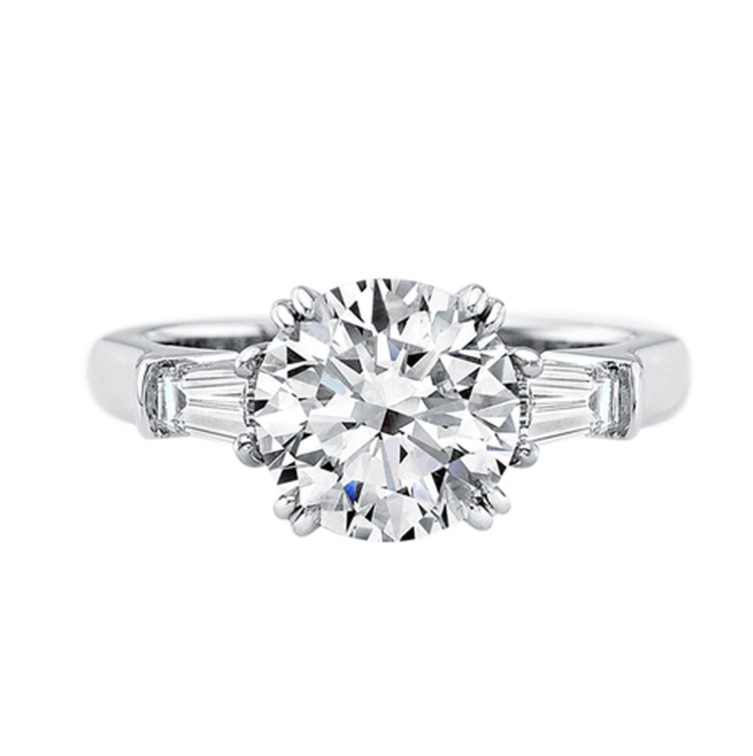 Fabuleux Harry Winston Classic Winston platinum diamond engagement HB34
