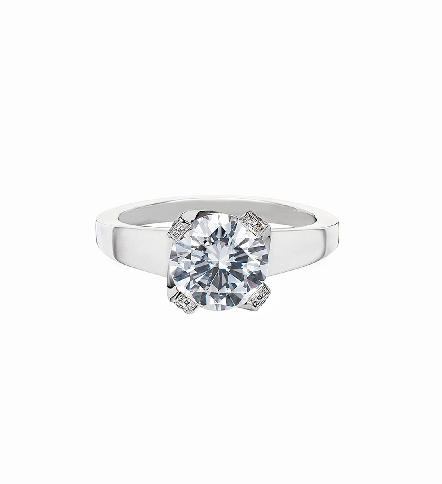 Ritz Fine Jewellery 1.51ct brilliant-cut diamond engagement ring with a ribbon setting.