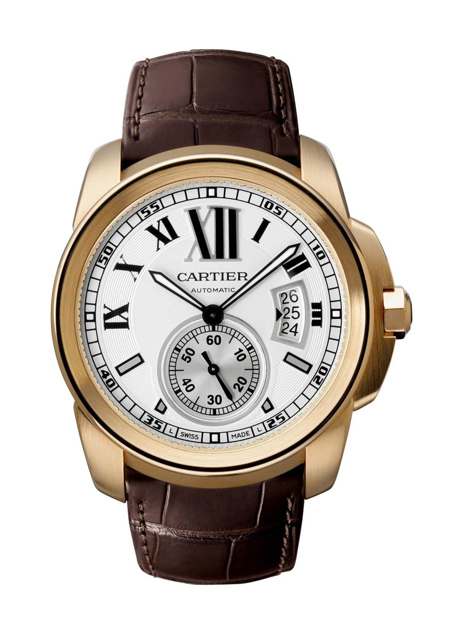 The new Calibre de Cartier features the first in-house made automatic movement, Caliber 1904 MC.