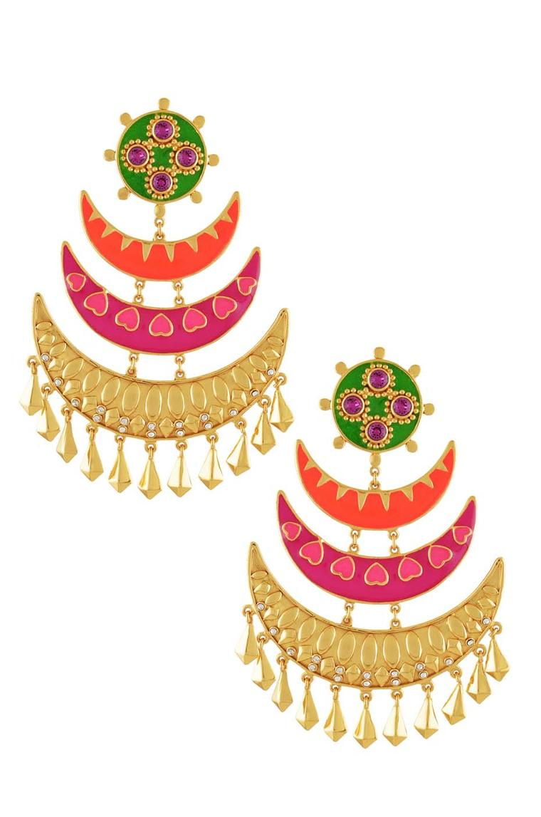 Jasper earrings from the Amrapali and Manish Arora AW 2014-15 collection.