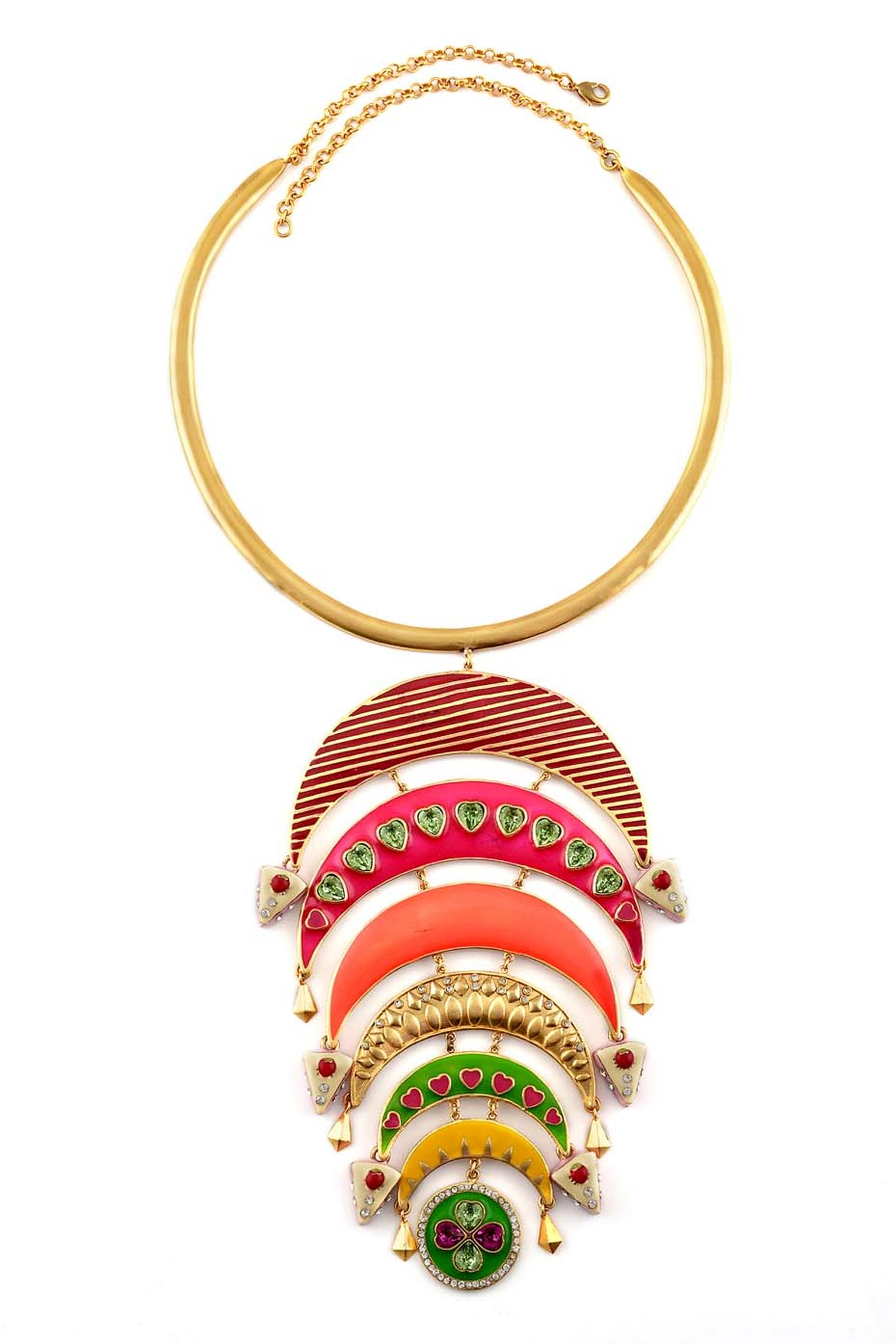 Amrapali and Manish Arora AW 2014-15 collection Jasper necklace.