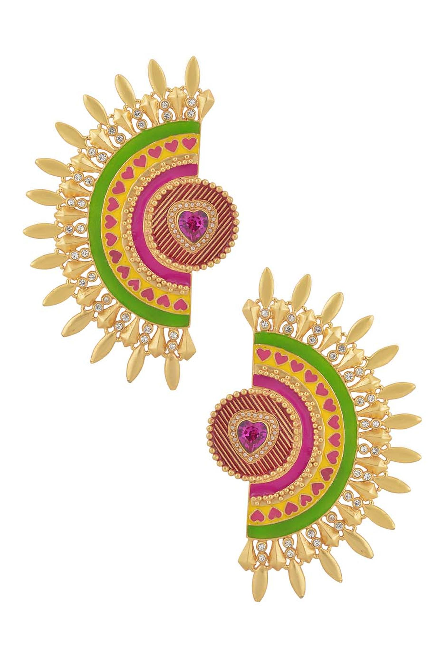 Amrapali and Manish Arora AW 2014-15 collection Rhea earrings.
