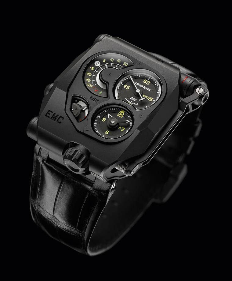 Urwerk's futuristic looking watch, the EMC, won in two different categories:Mechanical Exception and Innovation.