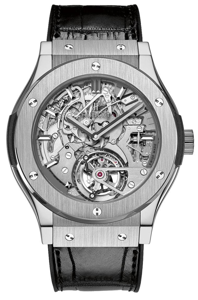 Hublot's Classic Fusion Cathedral Tourbillon Minute Repeater watch took home the Striking Watch prize at the GPHG.