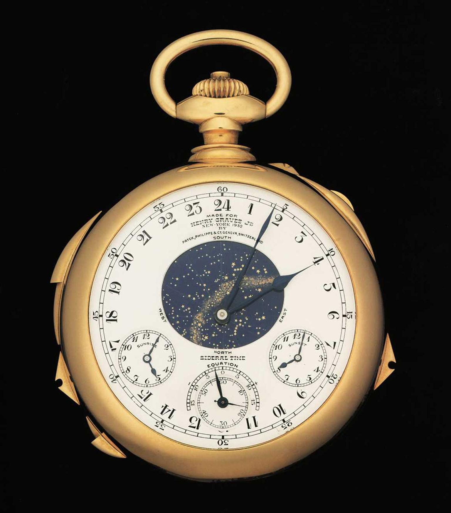 Created by Patek Philippe in 1933 and known as the Mona Lisa of watches, the Henry Graves Supercomplication is a masterpiece of horology with no fewer than 24 complications. It goes under the hammer at Sotheby's Geneva on 11 November 2014.