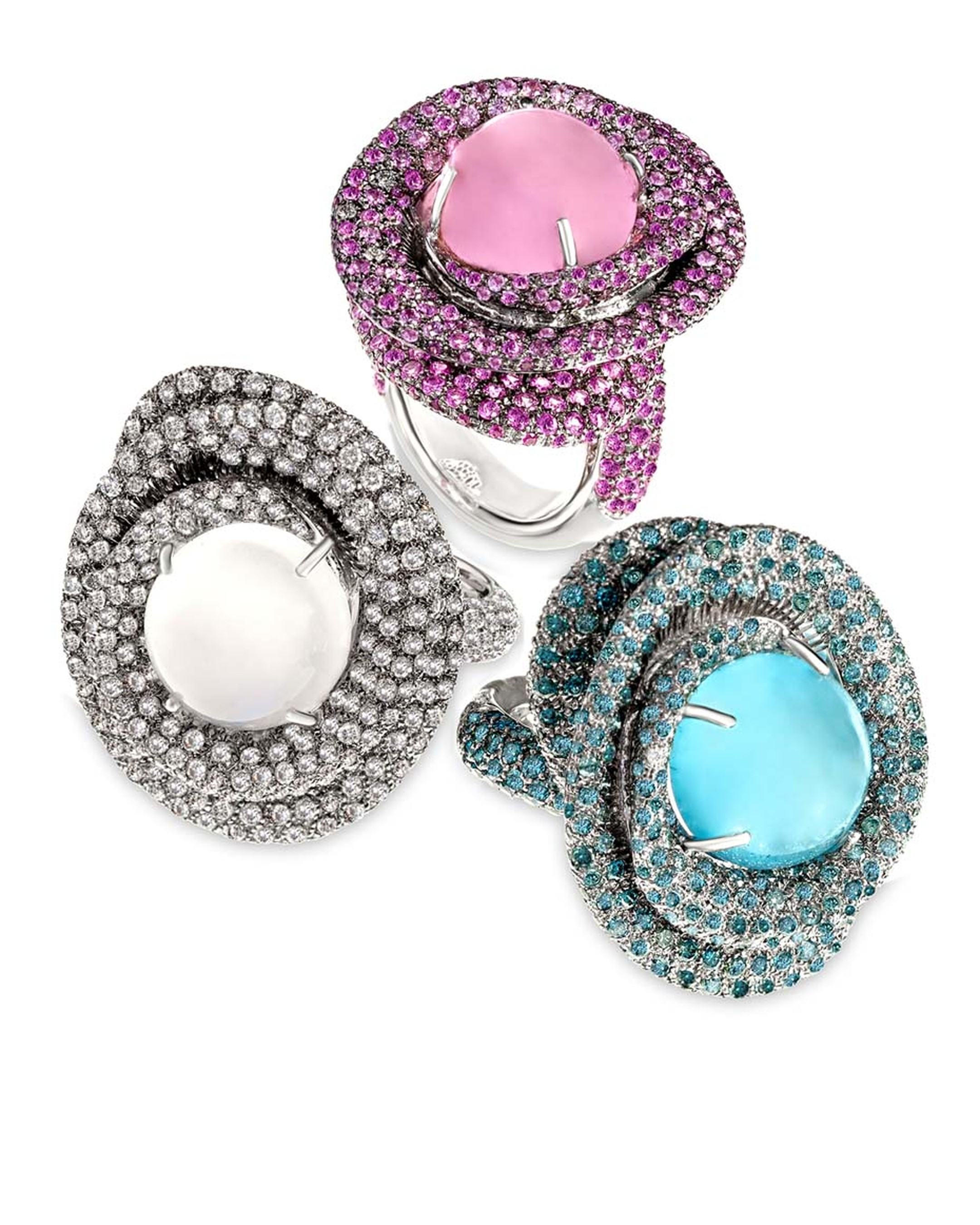 Margot McKinney Swirl Rings ($29,500 each).