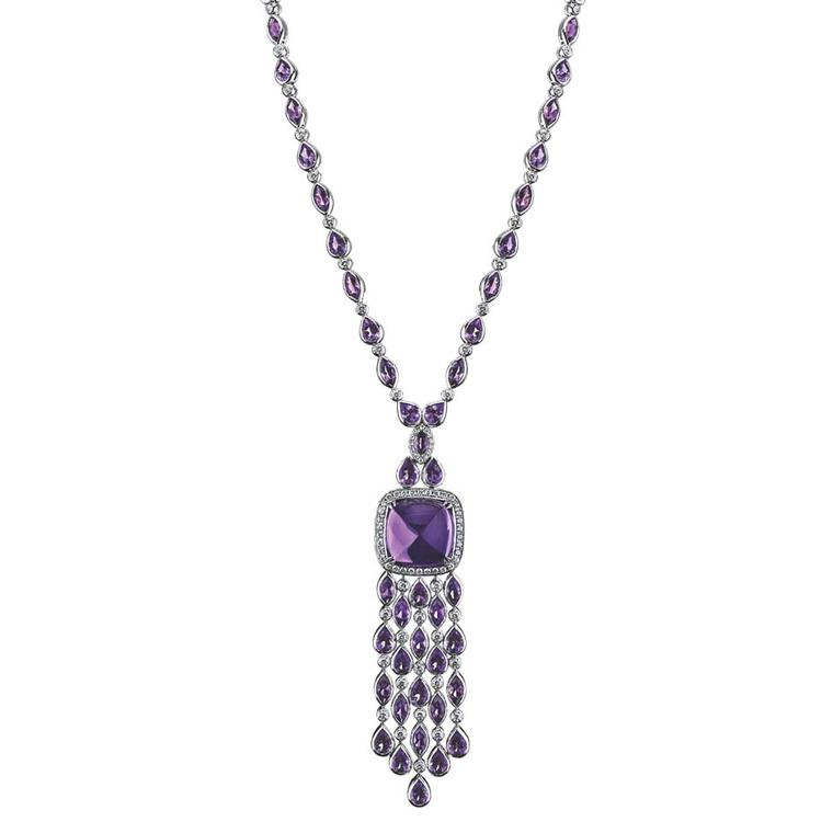 Robert Procop necklace in white gold, from the Legacy Brooke collection, featuring a 50.00ct amethyst and diamonds ($38,000).