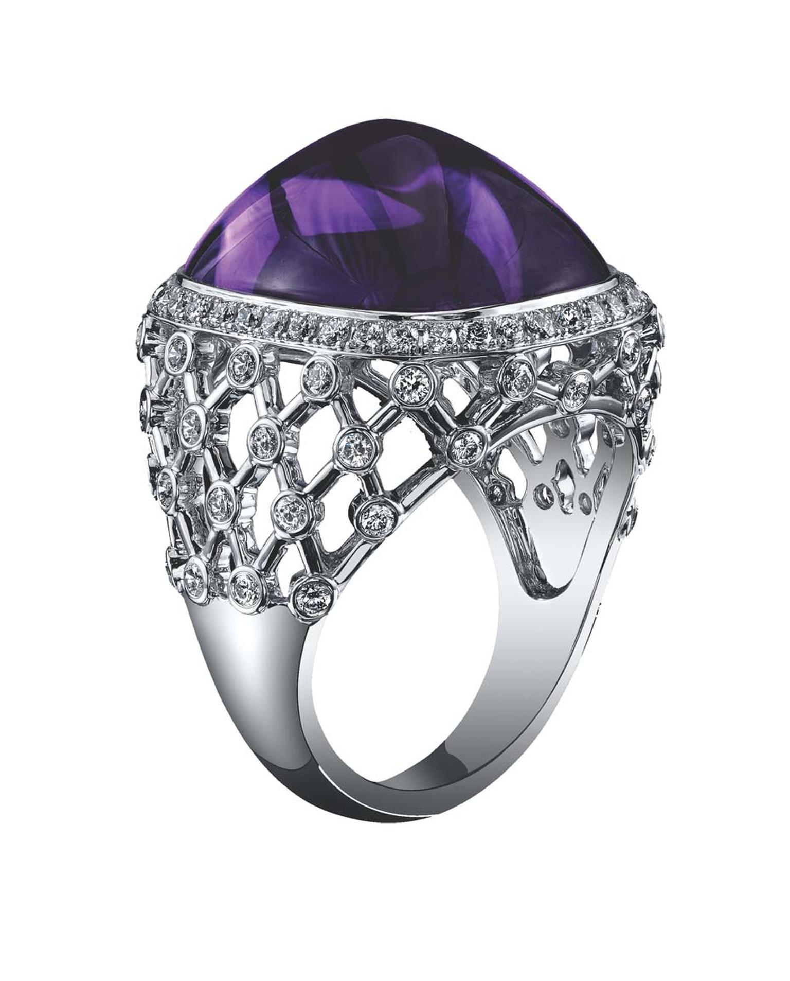 Inspired by its royal connotations, amethyst was the first gemstone Robert Procop and Brooke Shields settled on.