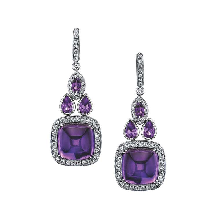 Robert Procop earrings in white gold, from the Legacy Brooke collection, set with 24.00ct of amethysts and diamonds ($19,000).
