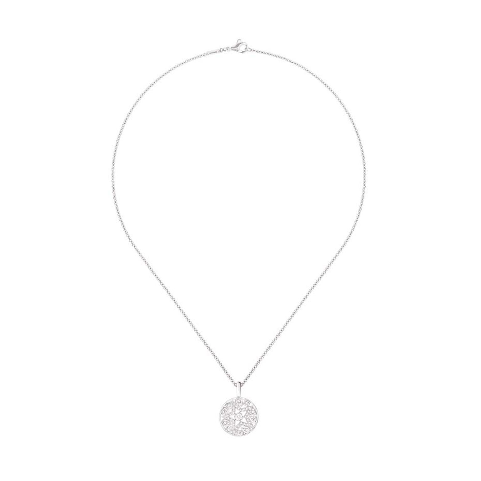 Chanel Étoile Filante white gold pendant with brilliant-cut diamonds, from the Comete collection, which launches in store this month.