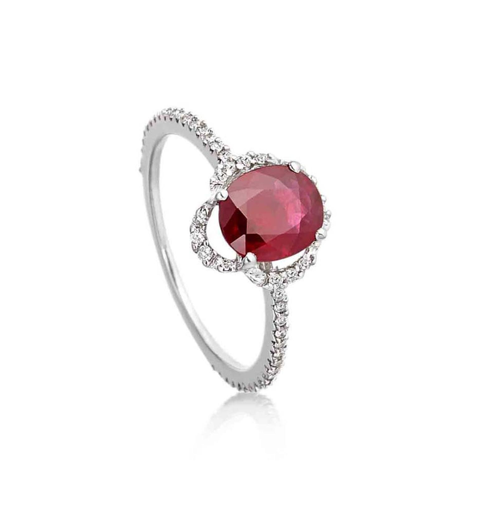 Amrapali ruby and diamond vintage-style engagement ring (£6,800).