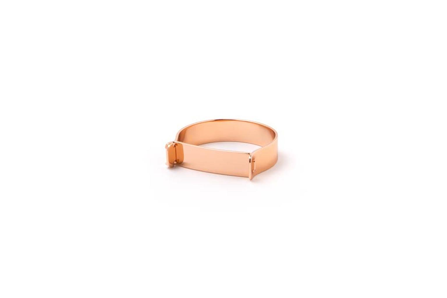 Hudson ring for men in rose gold.