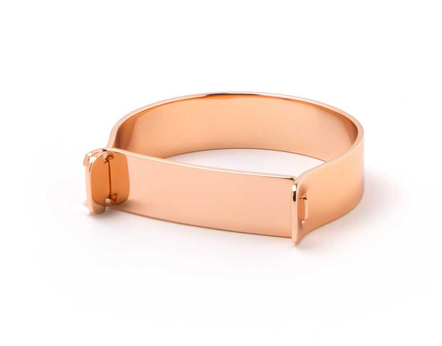 Miansai Hudson cuff for men in rose gold.