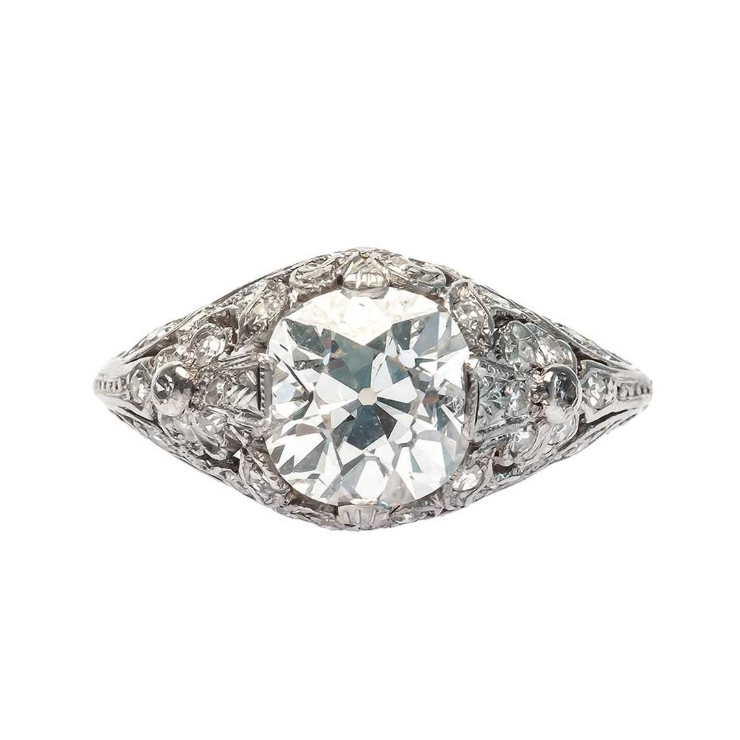 Vintage Edwardian engagement ring with a central 2.01ct diamond, available on 1stdibs.com (£14,152).