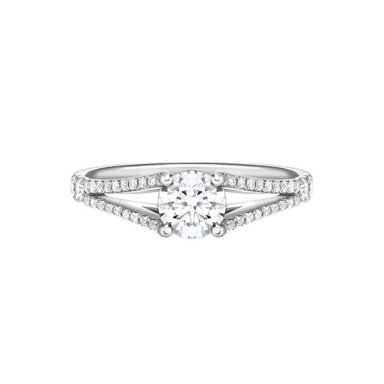 Ingle & Rhode Scherezade diamond engagement ring set with a 0.5ct round diamond in platinum (£4,395).