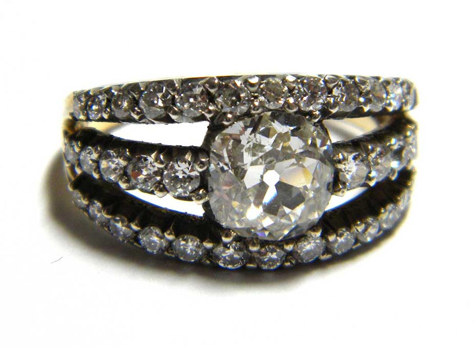 Vintage 1.5ct old-cut diamond engagement ring (£19,600). Available at Susannah Lovis in the Burlington Arcade, London.