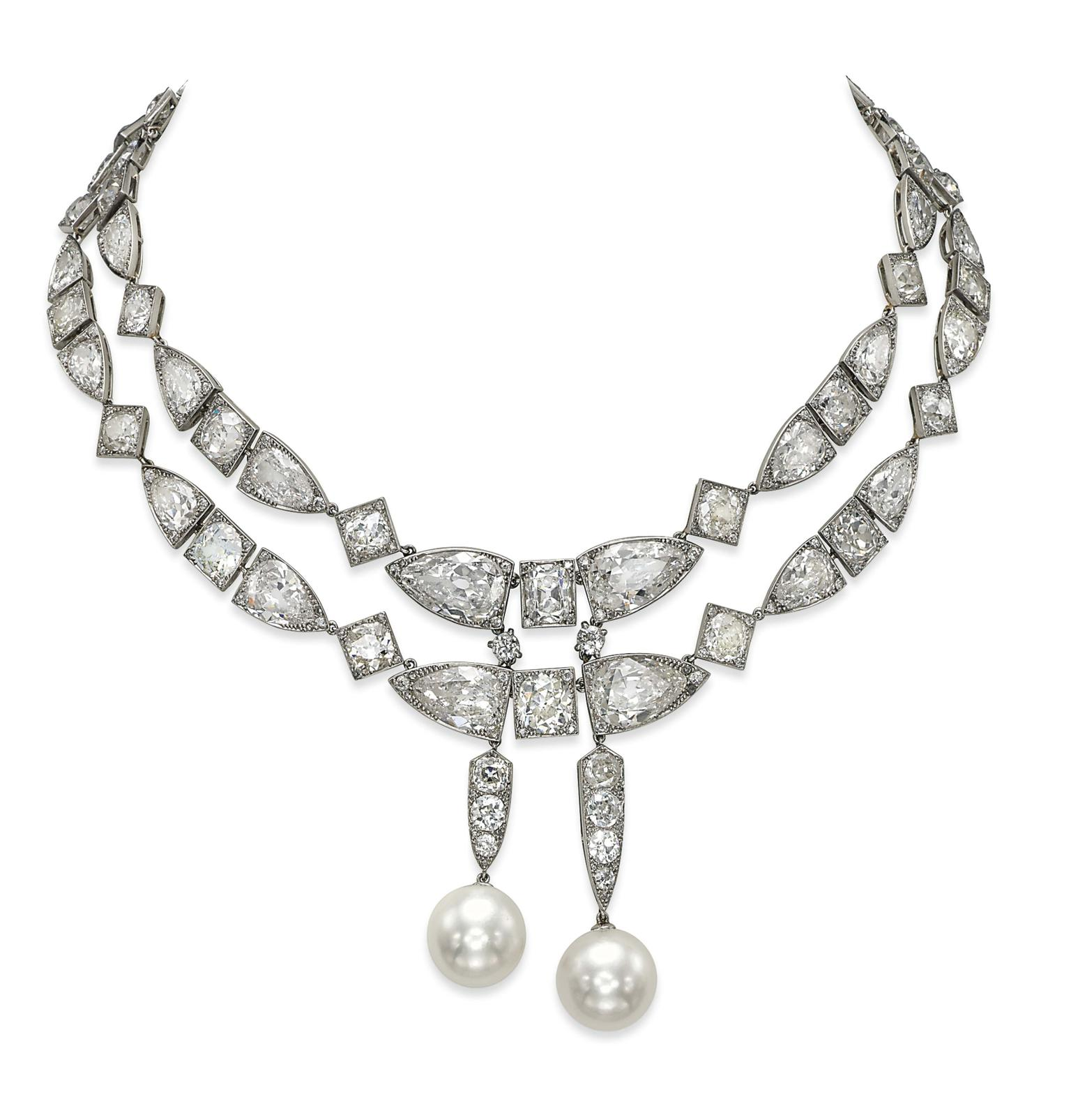Also of note is an Art Deco natural pearl and diamond necklace from the private collection of Baroness Edouard de Rothschild, which sold for $5.19 million, more than five times its pre-sale estimate.