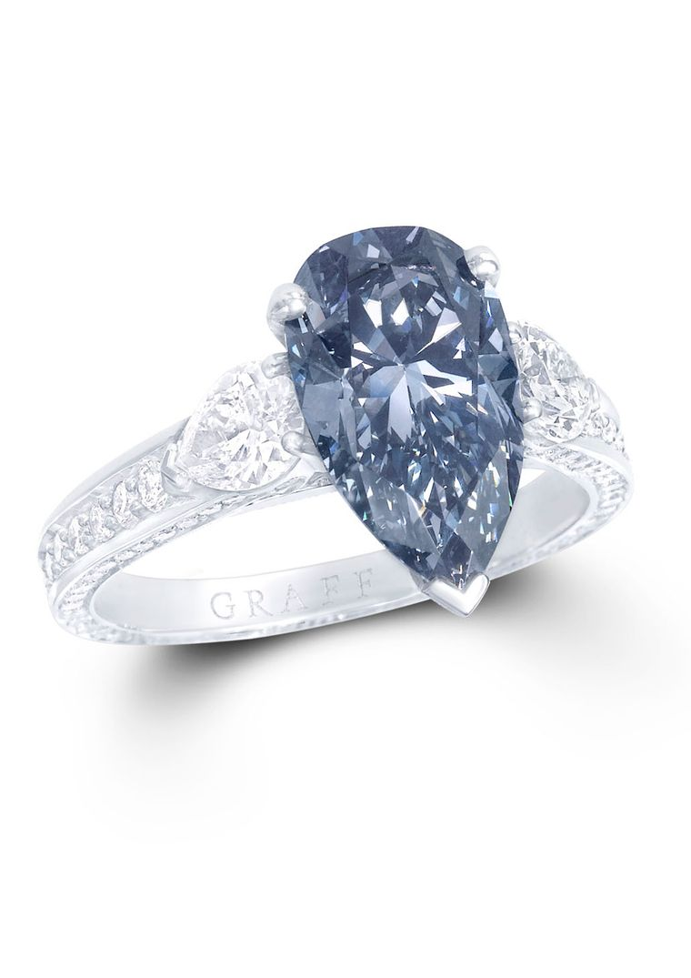 How Much Is A Blue Diamond Engagement Ring