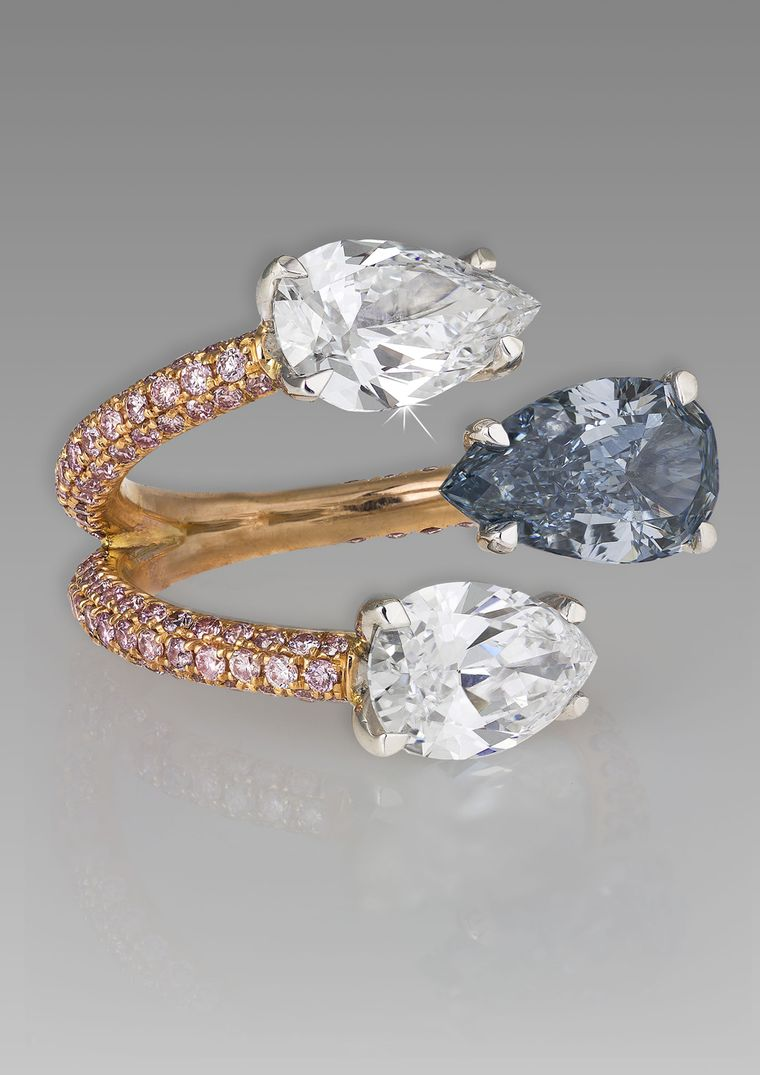 Blue Diamond Engagement Rings The Rarest Of Them All