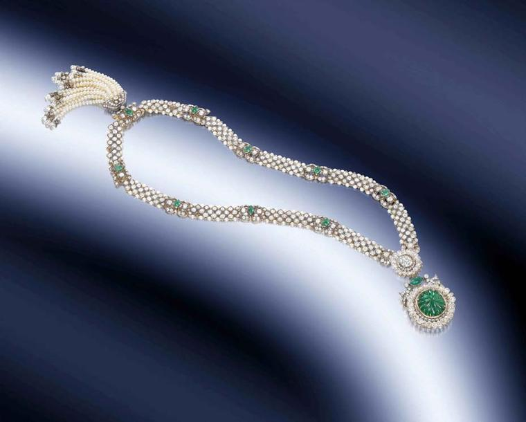The one-of-a-kind necklace to be sold by Bonhams London this December was crafted in 1911 from the finest emeralds, pearls and diamonds and was likely to have been worn at the famous Delhi Durbar of the same year.