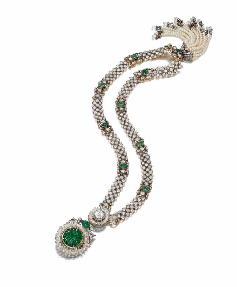 "Jean Ghika, head of jewellery UK and Europe at Bonhams, says: ""This necklace provides us with a unique insight into the levels of opulence and display at the 1911 Delhi Durbar and it is extremely rare to have such a magnificent jewel survive intact. The n"