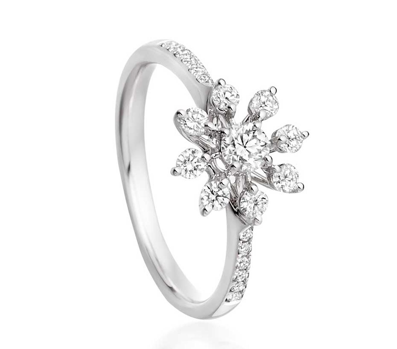 Astley Clarke Diamond Swirl engagement ring in white gold with diamonds totalling 0.50ct.