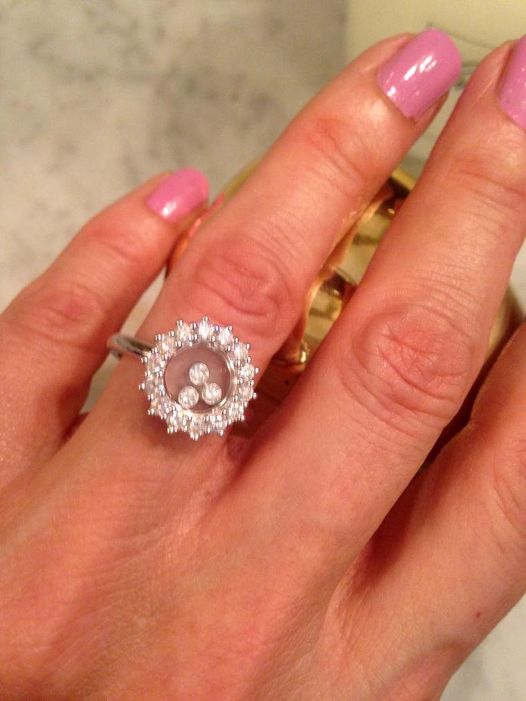 Chopard Happy Diamonds ring (£4,210).