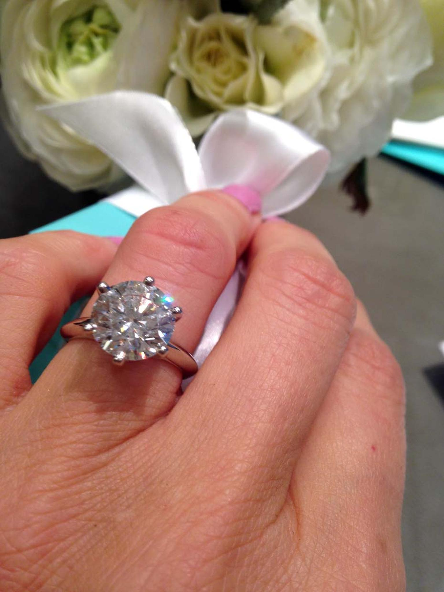 Tiffany & Co. Tiffany Setting diamond engagement ring with a