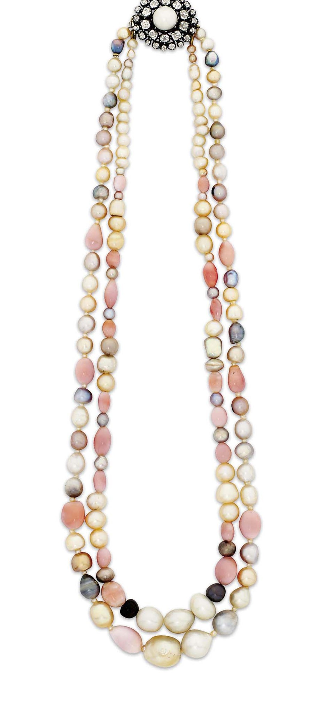 A late 19th century natural pearl and conch pearl necklace sold for £11,875 at Christie's Important Jewels sale in London last autumn.