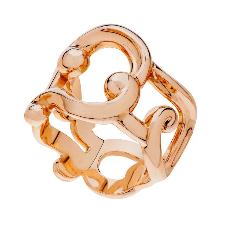 Fabergé Rococo Lace ring in rose gold (£2,221).