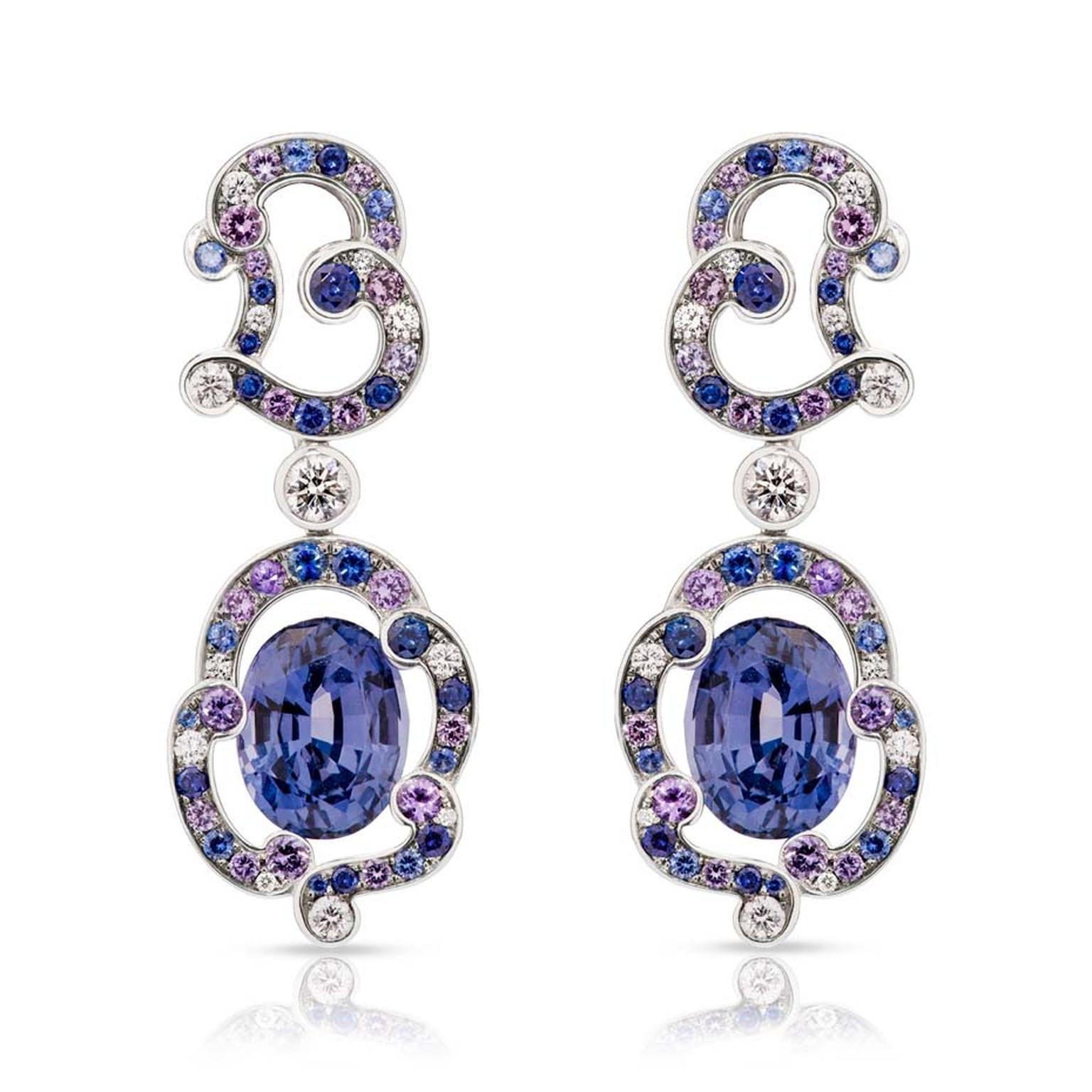 Fabergé Rococo lavender spinel earrings.