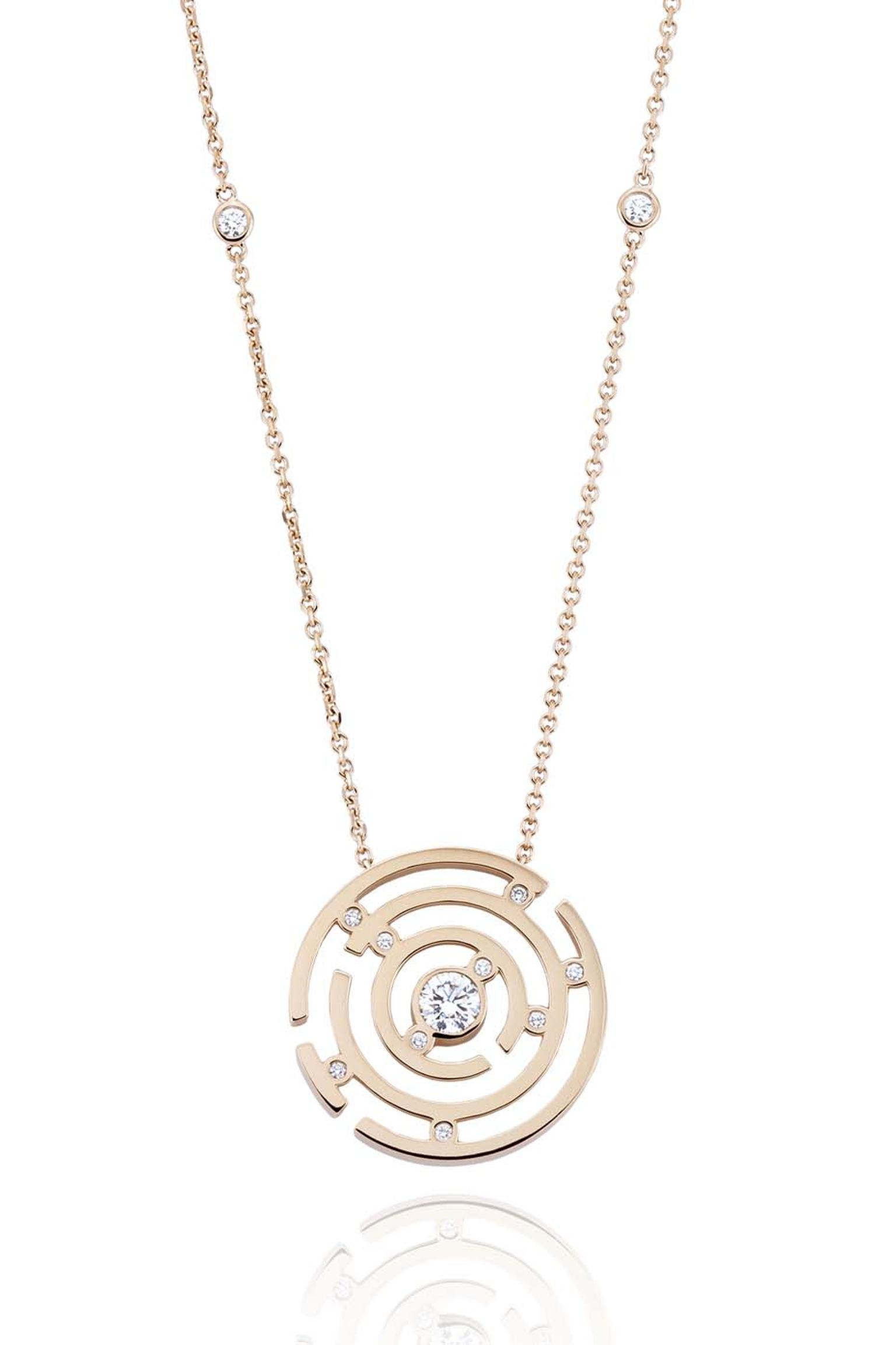 Boodles Maze diamond and rose gold necklace (£5,000).