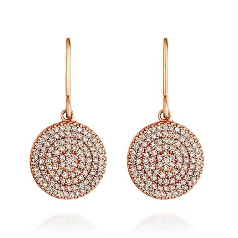 Astley Clarke Muse Icon diamond and rose gold earrings (£1,350).