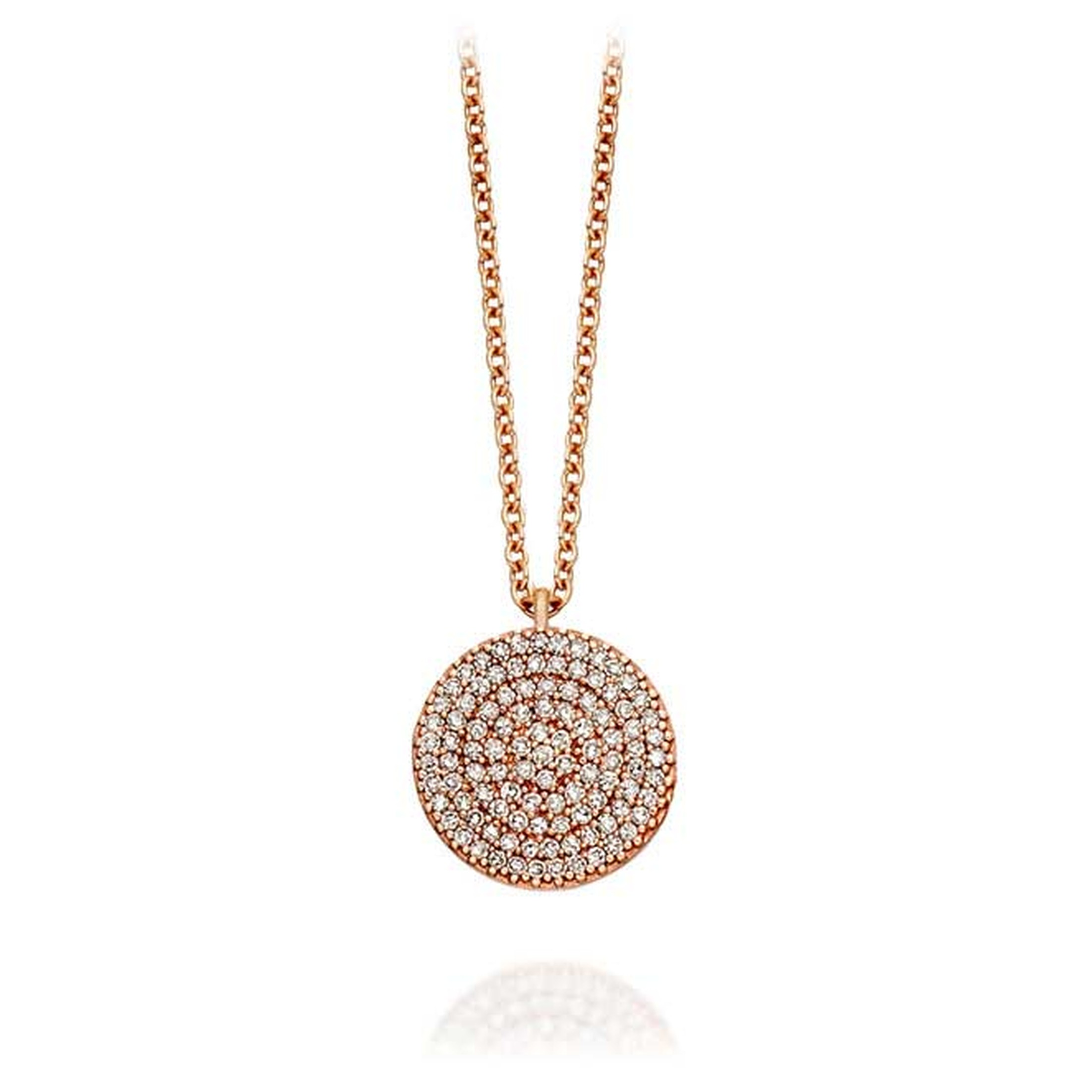 Astley Clarke Muse Icon diamond and rose gold necklace (£1,150).