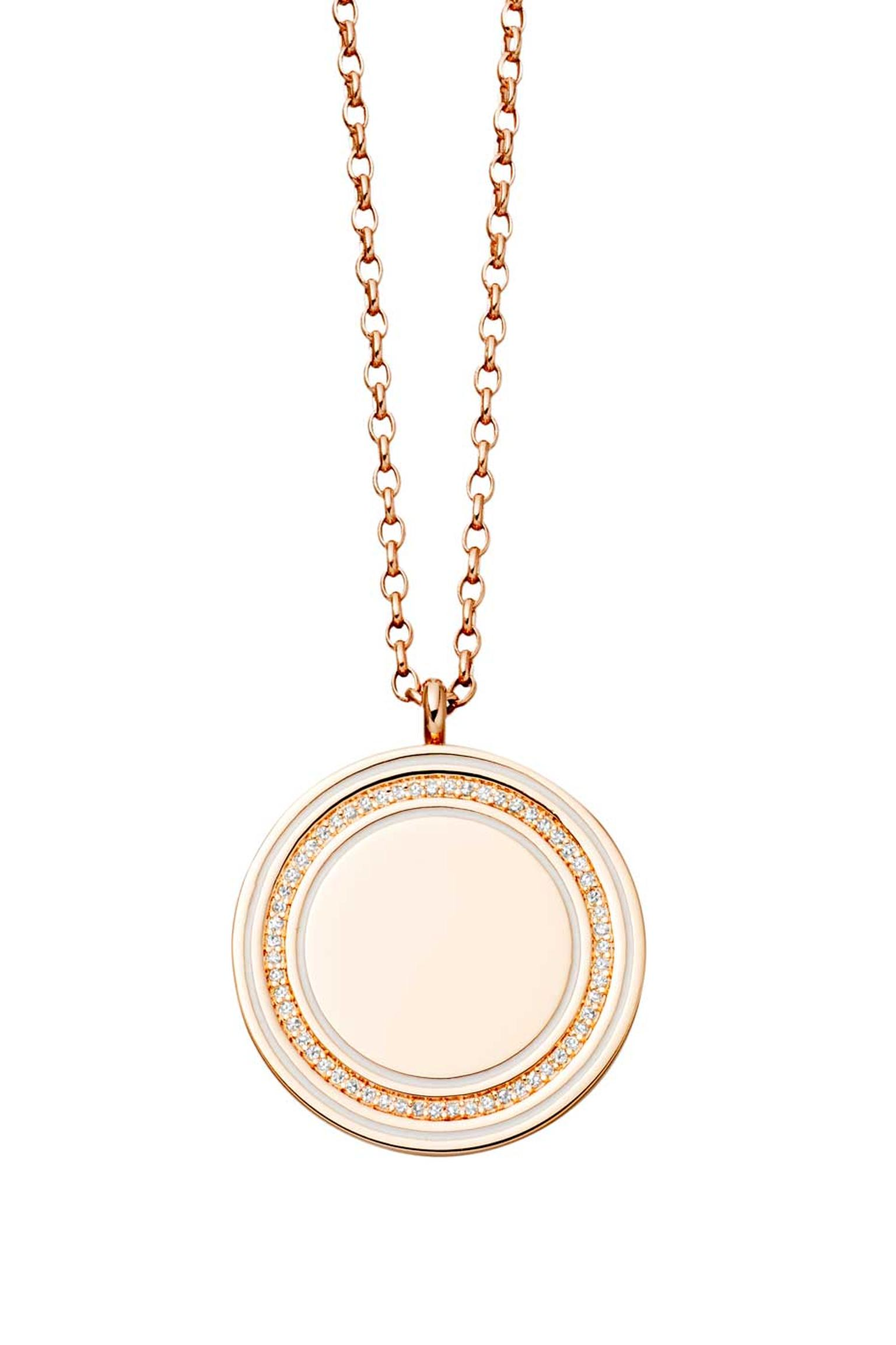 Astley Clarke Giant Moonlight Cosmos locket in rose gold and diamonds (£1,950).