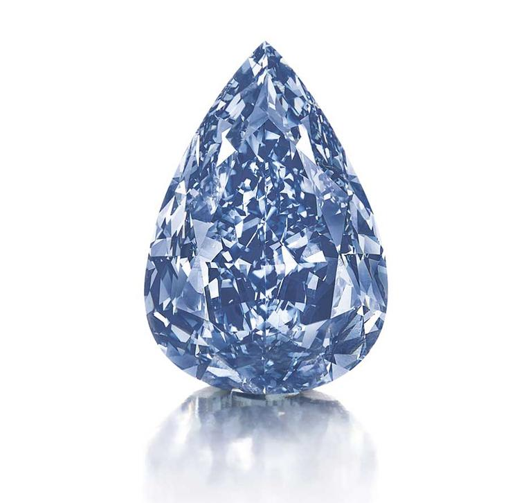 Harrods hosts a rare guest this month: the Winston Blue diamond